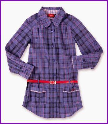 Intellektuell Neu Mexx Blusenkleid Bluse Tunika Kleid Lila Karo Langarm Gürtel 122 ( 116 128 ) Lassen Sie Unsere Waren In Die Welt Gehen