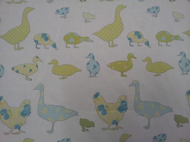 Ashley Wilde Tabitha Spring Ducks Chicken Fabric