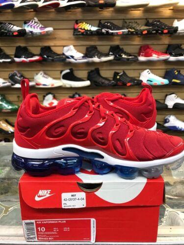 "Nike MENS Air Vapormax Plus /""USA/"" University Red White Blue 924453-601 AUTHENTIC"