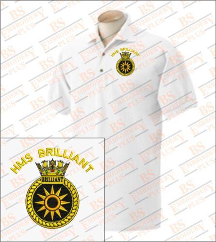 HMS BRILLIANT Embroidered Polo Shirts
