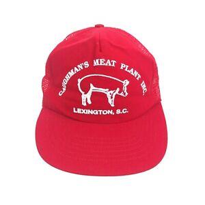 b7fff88dd44ec Vintage Caughman s Meat Plant Lexington South Carolina Hat Trucker ...