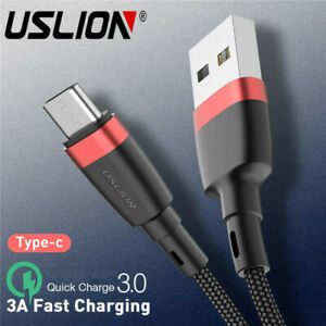 3A-USB-Type-C-Charger-Data-Cable-Fast-Charging-For-Huawei-P30-Pro-Samsung-S10