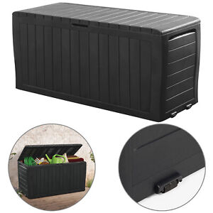 Keter Garden Storage Box Sit On Lid Bench Utility Chest