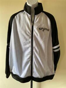 New San Antonio Spurs Mens Size M Medium White Zip Up Jacket