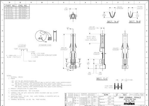 "Crimp Pins /& Sockets Lot Size: 0.062/"" /& 0.093/"" Terminals Male n Female Molex"