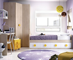 cooles jugendzimmer f r jungen m dchen eckschrank bett 22 farben w hlbar ebay. Black Bedroom Furniture Sets. Home Design Ideas
