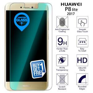 2-X-para-Huawei-P8-Lite-2017-Vidrio-Templado-Film-Protector-de-pantalla-transparente-PRA-LX1