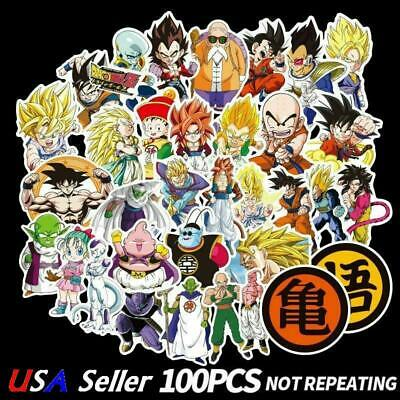 100 pcs Dragon Ball Z Stickers Anime Stickers