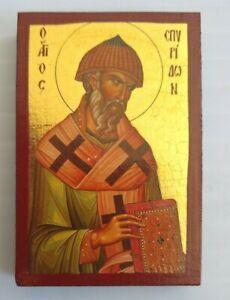 Wooden-Greek-Christian-Orthodox-Wood-Icon-of-Saint-Spyridon-Spiridon-2-5-034-X3-75-034