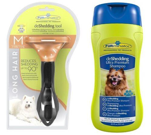 FURminator Shampoo MEDIUM Dog LONG Hair Genuine FURminator De-Shedding Tool