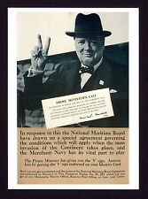 WW ll ~ CHURCHILL ~ Government War Poster  ~ Art Repro. Card