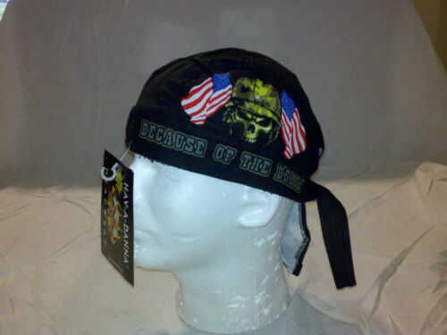 Premium USA LAND OF THE FREE BECAUSE BRAVE LINED TIED FITTED Bandana HAV A DANNA