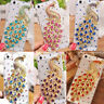 Bling Crystal Diamond Colorful Peacock Hard Cover 3D Back Skin Case For Phone