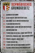 Bayrisches Grundgesetz Bayern Heimat Bayer Deko Blechschild Poster Plakat A0201