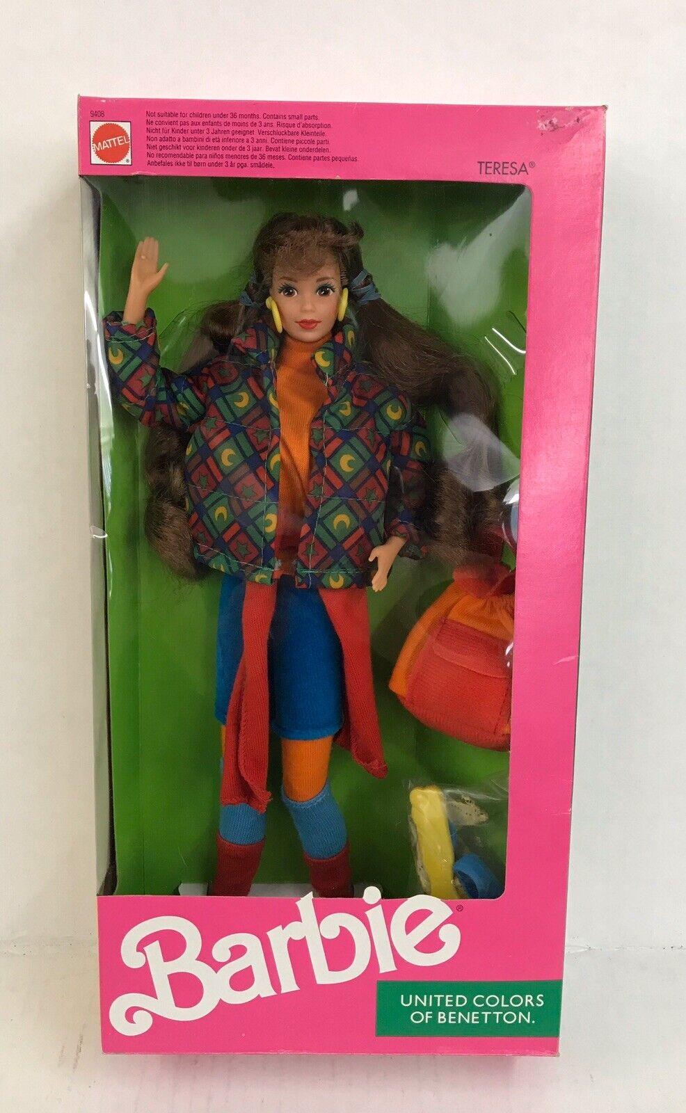 Intuición Electricista Polar  1990 United Colors of BENETTON Teresa Non USA Barbie Doll NRFB 9408 Red  Hair for sale online | eBay