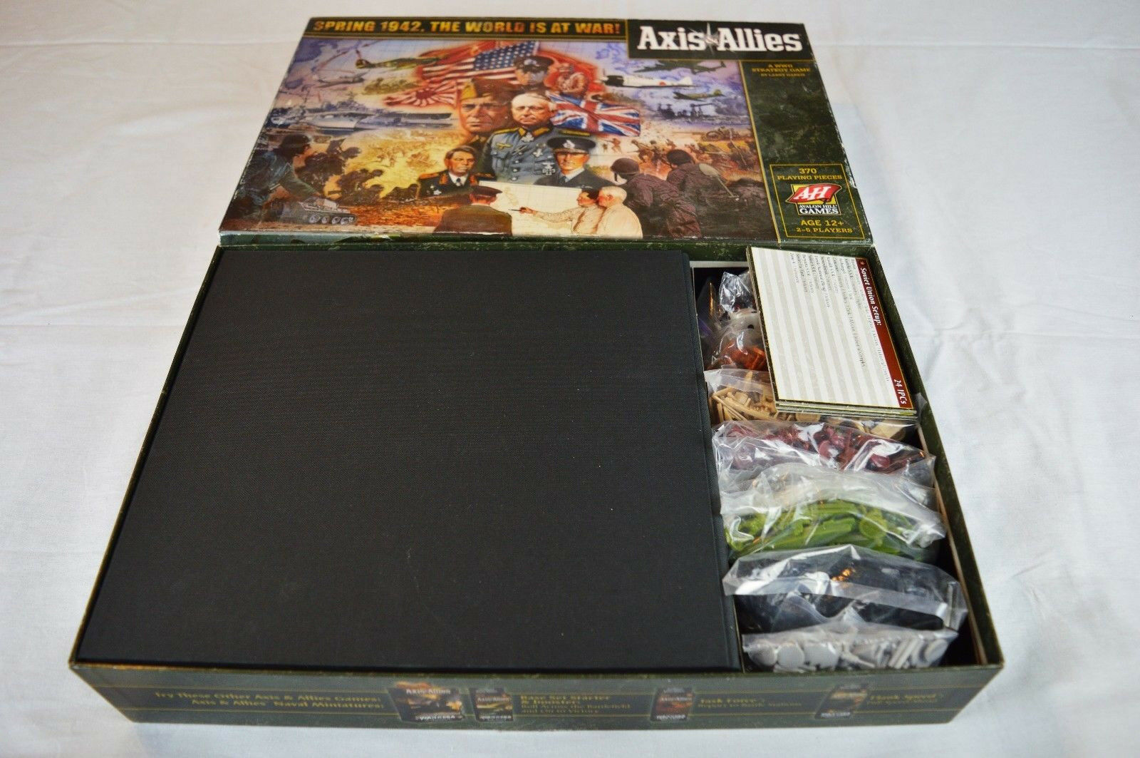 Axis & Allies 1941 Board Game A WWII Strategy Game - Complete