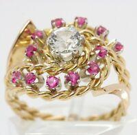 ♦♦Damen Ring in 750 18kt Gelb Gold mit Turmlinen Turmalinring Turmalin Schmuck♦♦