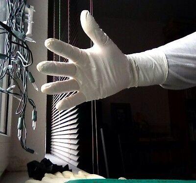 20 Guanti In Lattice Da Nitrile-bianco - 27cm Lungo-nuovo-confezione Originale-kt It-it Mostra Il Titolo Originale