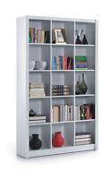 Cube Triple White Gloss Ziggy Bookcase Room Divider Shelf Shelving Display