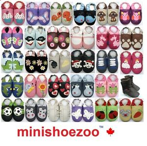 MiniShoezoo-CHAUSSURES-Chaussons-bebe-CUIR-SOUPLE-POUR