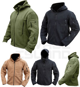 Tactical Recon Full Zip Fleece Jacket Army Hoodie Security Police Hoody Combat