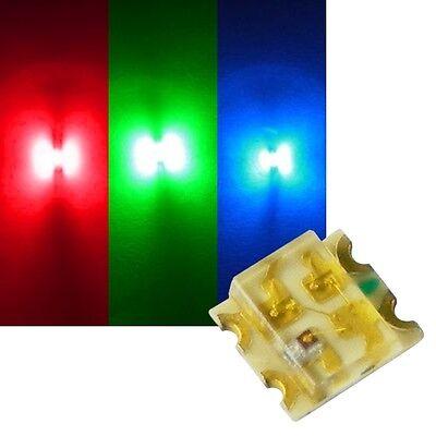 20-40Stk Vorgelötete Litzenleitungen Zweifarbige SMD-LED ROT GELB 0605 NEU
