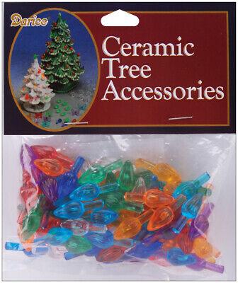 Darice Ceramic Christmas Tree Accessories  Flame Pin 0.625 Inch Multi Color