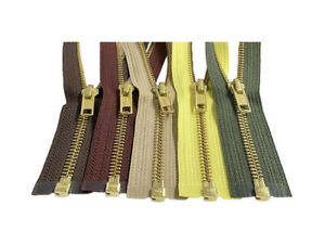YKK-5-Brass-Metal-Medium-Weight-Separating-Jacket-Zippers-37-034-to-48-034-Inches