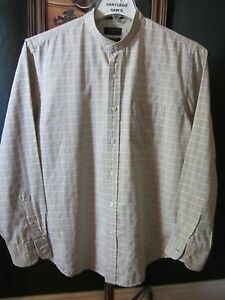 Medium 15 5 32 33 wrinkle free dockers plaid banded for Dockers wrinkle free shirts