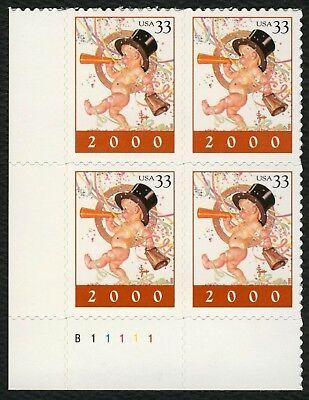 """b11111 Ll Kraftvoll #3369 33c """" 2000 """" Blockschrift Postfrisch Any 4 = Geschickte Herstellung"""