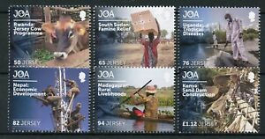 Jersey-2018-MNH-JOA-Jersey-Overseas-Humanitarian-Aid-6v-Set-Cows-Stamps
