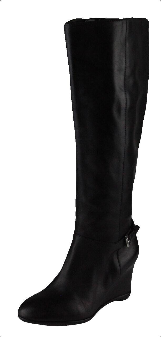 Lauren Ralph Lauren Mujer Negro Tia Vachetta Cuero botas Ret Nuevo