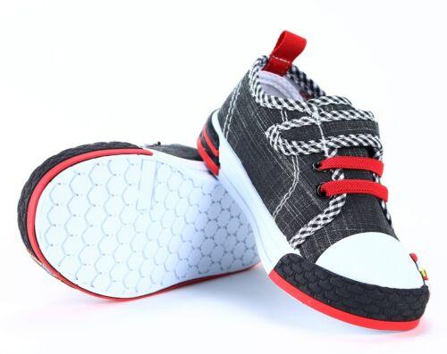 Garçons Bébé Toile Baskets Taille 3.5 UK 12 cuir véritable Semelles Intérieures