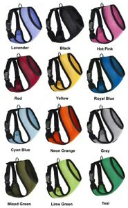 Mesh-Padded-Soft-Puppy-Pet-Dog-Harness-Breathable-Comfortable-12-Colors-5-Sizes
