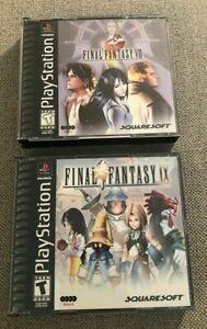 Final-Fantasy-Black-Label-Bundle-Lot-VIII-8-and-IX-9-Playstation-1-PS1-EUC