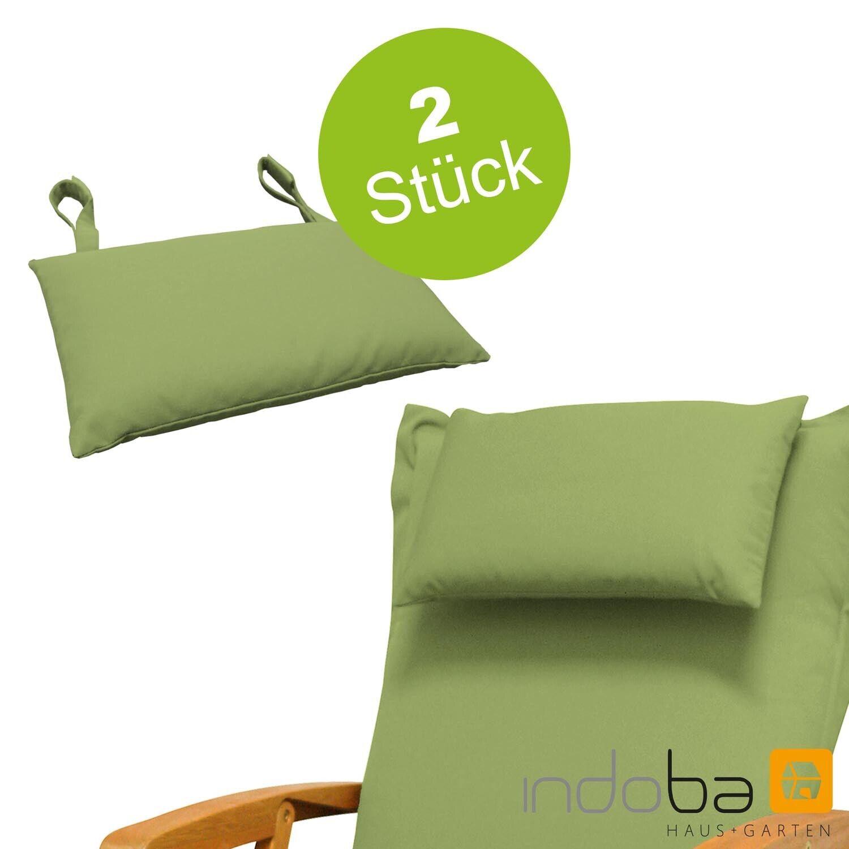 2 x almohada cuello pilar almohadita para cobertor de asiento para tumbarse tirada-verde