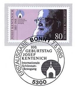 BRD-1985-Josef-Kentenich-Nr-1252-mit-dem-Bonner-Ersttags-Sonderstempel-1A-157