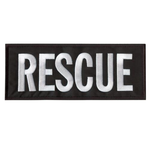 rescue large XL 10/'x4/' emergency SAR embroidered body armor hook/&loop patch