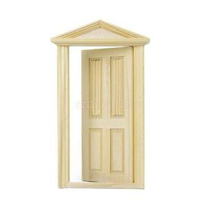 Image Is Loading Doll House Miniature Exterior Door Solid Wood 4