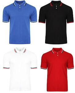 Men-039-s-Polo-Shirt-Tipped-Collar-Polo-Shirt-Cotton-Shirt-BNWT