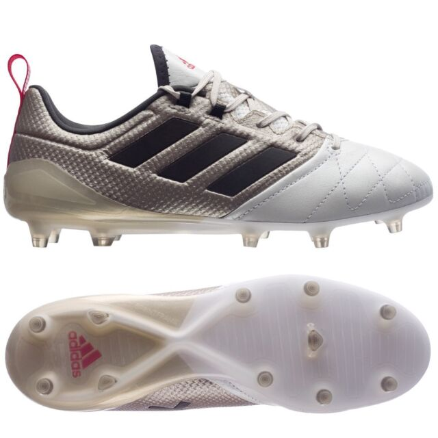 ADIDAS ACE 17.1 FG K-LEATHER WOMEN S SOCCER CLEATS SIZE US 9.5 PLATINUM  BA8554 a0d5b78919