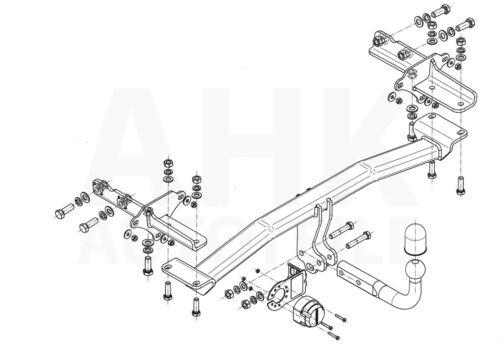 Anhängerkupplung starr+E-Satz 7p Für Jeep Renegade 14-17 Kpl