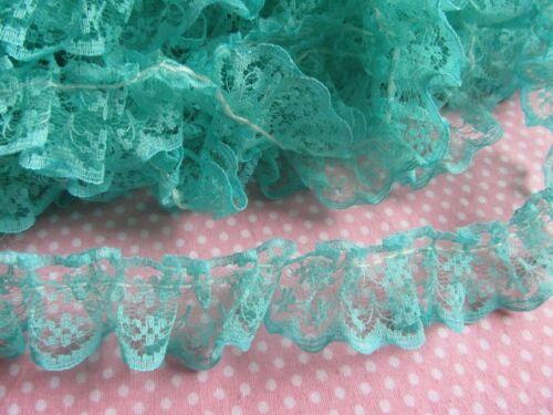 "5y Lace Edge 3//4/"" Trim Gathered Mesh Ribbon Sewing DIY Wedding-U PICK L018"