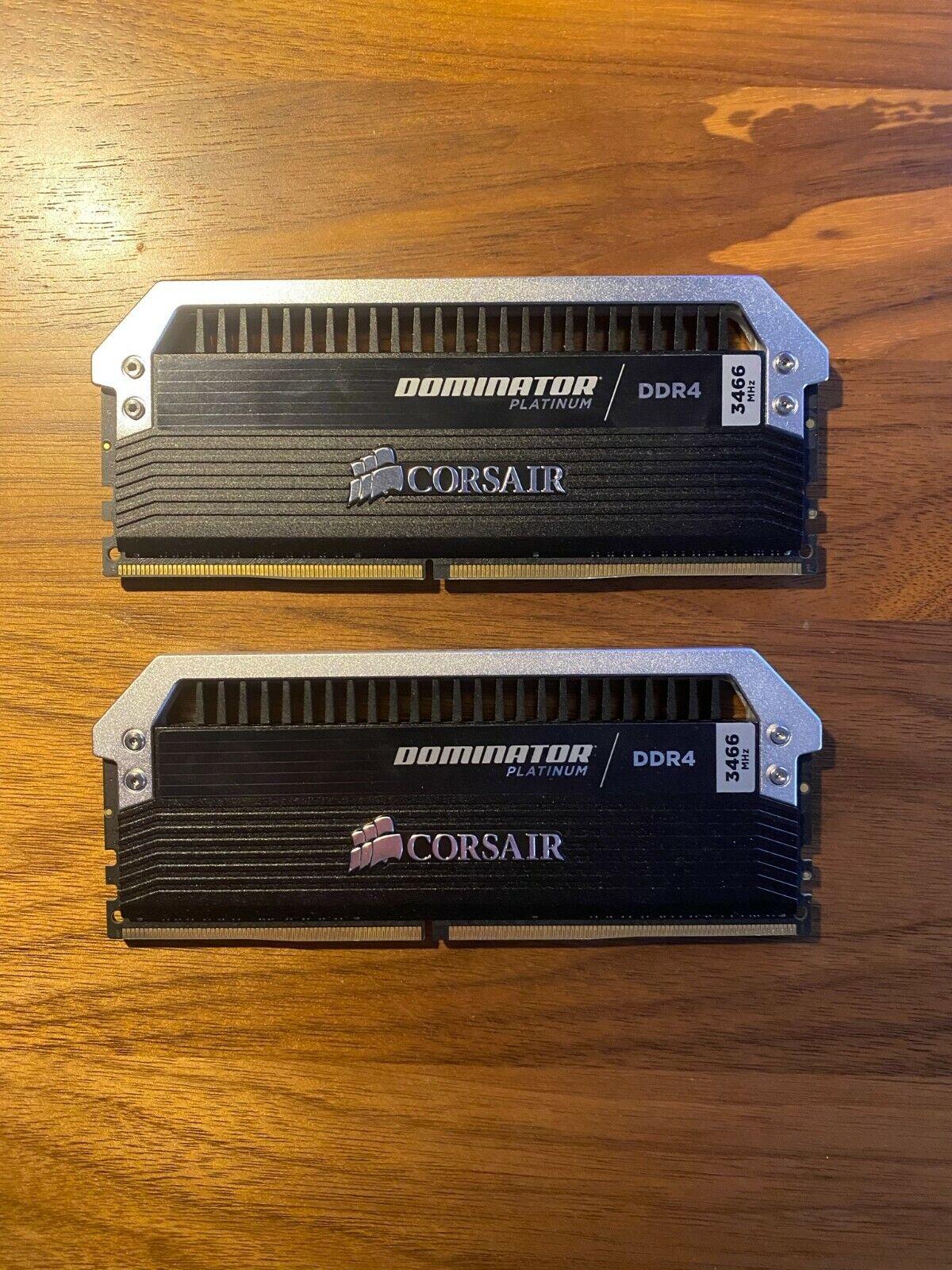 32GB Corsair Dominator Platinum DDR4 3466MHz CL16 Dual Kit 2x16GB. Buy it now for 200.00