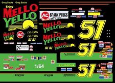 #51 Cole Trickle Mello Yello Lumina 1/64th HO Scale Slot Car Waterslide Decals