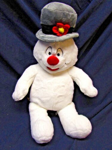 Build a Bear Frosty The Snowman Plush Cheeks Light Up Musical 2009 TESTED NICE!