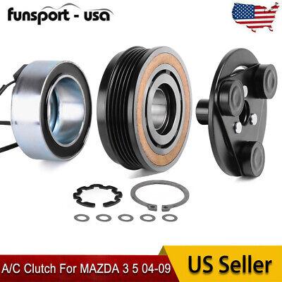 AC Compressor Clutch KIT Plate Coil Bearing For Mazda 3 04-09 Mazda 5 06-10 2.3L
