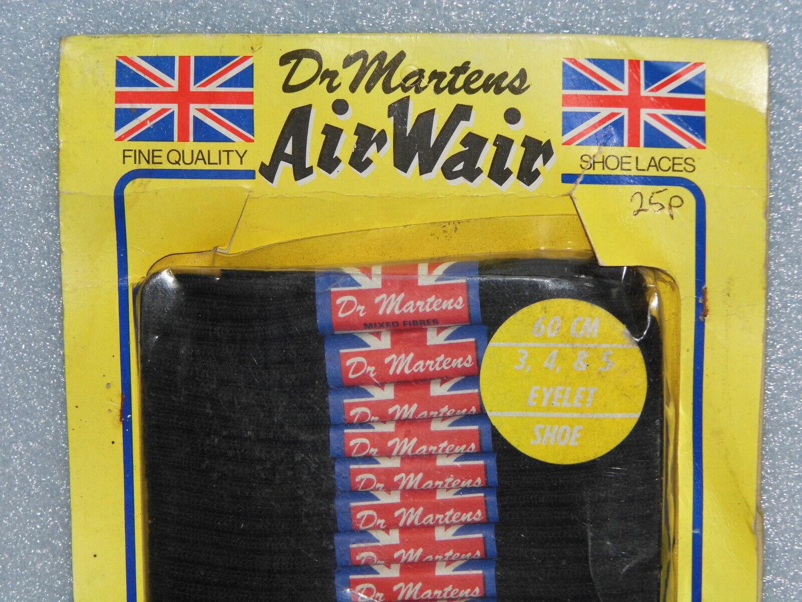 Vintage schwarz Genuine Original Dr Martens Laces New Old Stock 60 cm 3 - 5 eyelet