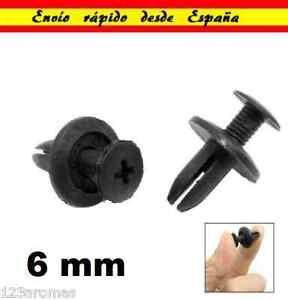 6mm-Remaches-Plastico-Pasador-Tapon-del-Carenado-remache-de-Coche-Moto-Suzuki