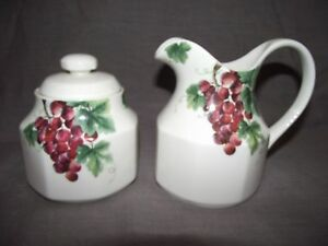 Royal-Doulton-Vintage-Grape-Sugar-Bowl-and-Creamer